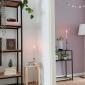 Pastel roze urban licht hout