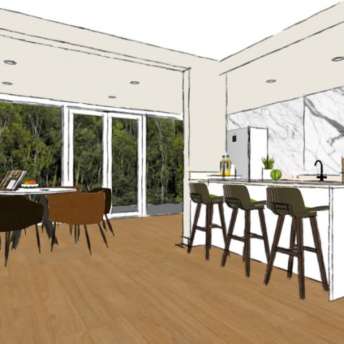 Kleuradvies en 3D-impressies '30- jaren woonhuis | Den Haag